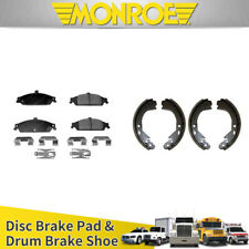 LCAR Front Disc Brake Pads Rear Drum Brake Shoes 8pcs For 2003 CHEVY MALIBU