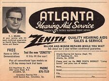 1967 ATLANTA,GEORGIA HEARING AID REPAIR SERVICE~T.J.ZELSKI~ZENITH~ NEW ZENETTE
