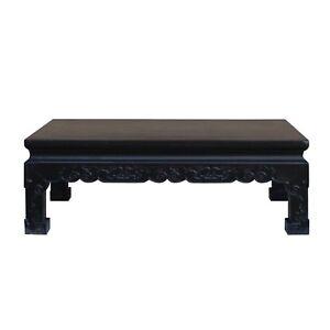 Chinese Handmade Dark Brown Rosewood Low Kang Table Stand cs4815