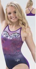"""Gk Elite Nastia Liukin Gymnastics Leotard """"Butterfly Flow� E3711 Sold Out Sz: As"""