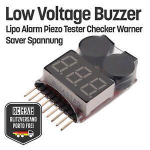 Low Voltage Buzzer Lipo Alarm Piezo Tester Checker Warner Saver Spannung