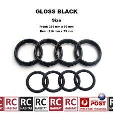 GLOSS BLACK BADGE COMBO GRILLE & REAR AUDI RINGS FOR AUDI Q3 Q5 Q7