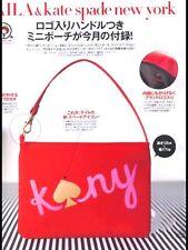 Fashion Japanese Kate Spade Orange Small Make Up Cosmetic Handbag Novelty Bag