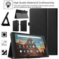 Case For Amazon Fire HD 10 8 7 10th Gen 2020 2019 Smart Leather Stand Book Cover