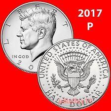 (2) 2017-P KENNEDY HALF DOLLAR 2 COIN SET - UNCIRCULATED COINS US MINT