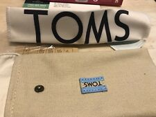 TOMS Sunglasses Case with Cleaning Clothe & Care card NEW