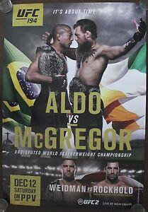 Official UFC 194 Jose Aldo vs Conor McGregor Poster 27x39 (Near Mint)