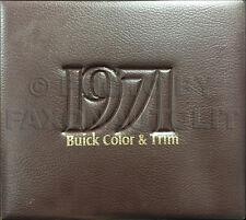 1971 Buick Color Upholstery Dealer Album Riviera GS Skylark LeSabre Electra Etc.