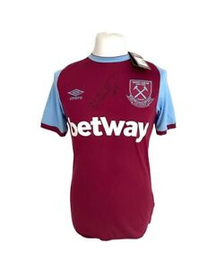 Mark Noble West Ham Signed Home Shirt With COA Bidding From £125