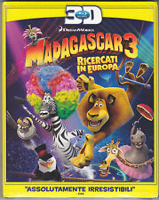 Blu-ray 3D DreamWorks **MADAGASCAR 3 ♥ RICERCATI IN EUROPA** nuovo slipcase 2012