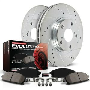 Power Stop K2069 Disc Brake Pad And Rotor Kit Front For 19 Sierra 1500 5.3 NEW