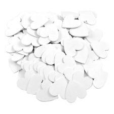 100x ARTICLES distribution bois, coeur blanc mariage / 5cmx5cm épais 0,25cm