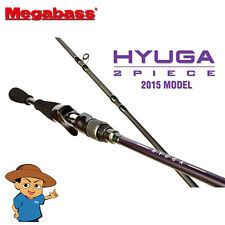 "Megabass HYUGA 72-2H Heavy 7'2"" bass fishing baitcasting rod pole from Japan"