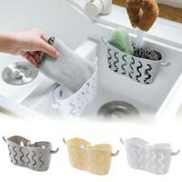 Kitchen Bathroom Sponge Sink Tidy Holder Suction Strainer Basket Organizer V7Q6