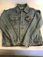 Harley Davidson Patch Wash Denim Jean Jacket SZ S Good Condition FREE SHIPPING