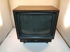 """Vintage Wood Grain Zenith Space Command 13"""" Color CRT Television *Tested working"""