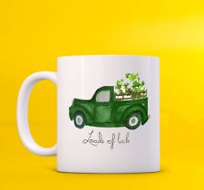 Loads Of Luck St Patrick'S Day Shamrock Car Driver Coffee Lover Gift White Mug
