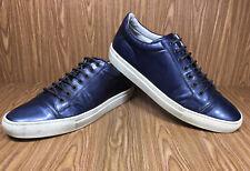 Giorgio Armani Men's Genuine Leather Sneakers Shoes Navy Sz 11 US 44 IT