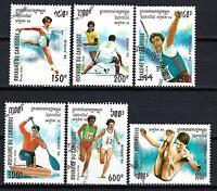 JO verano Camboya (53) serie completo de 6 sellos matasellados