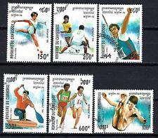 JO été Cambodge (53) série complète de 6 timbres oblitérés