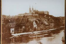 Bamberg Michaelsberg Germany town river art Deco 1930 Glass mounted matte Photo