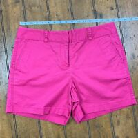 Vineyard Vines Womens 8 Dayboat Classic Shorts Pink Flat Front Stretch 2H0215