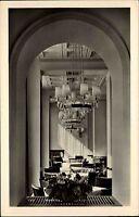 Berlin DDR s/w Postkarte 1953 HO Gaststätte Warschau Innenansicht ungelaufen