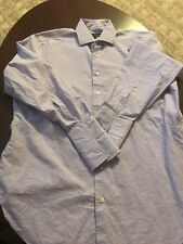 Robert Talbott Purple Striped L/S Men's Button Up Dress Shirt 15 1/2-34