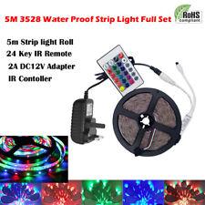 12V 3528 Mood Light RGB Multi Color LED Strip Light TV Backlight Remote Contral