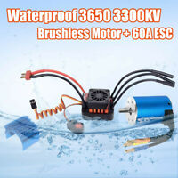 3650 3300KV Brushless Motor ESC LED Programming Card Combo For 1/10 RC Car U5Q6