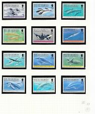 South Georgia & South Sandwich Is: 1994 Whales and Dolphins set of 12, MNH