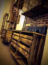 2er Set hohe geflammte Regalkiste-Holzschrank mit 2 Schubladen * 61x50x31cm *