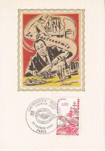 Carte Postale max 1980 Soie 1er jour - Métiers d'Art La Gastronomie