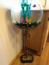 Antique Art Nouveau Ornate Aquarium Stand w/ 3 gallon Custom Fish Bowl