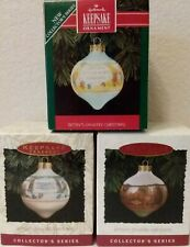 Hallmark 1992, 1993, & 1994 Betsy Clark Complete 3-piece Glass Ball Set; Mib