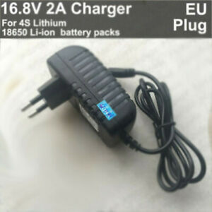 EU AC/DC 16.8V 2A 2000mA charger adapter for Lithium Ion Batterie Li-ion LiPo 4S