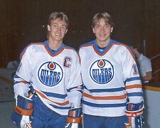 Wayne Gretzky and Jari Kurri - Edmonton Oilers, 8x10 Color Photo