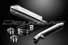 "Kawasaki ZX-9R Ninja 13"" Stainless Steel Tri-Oval Muffler Exhaust Slip On 02 03"