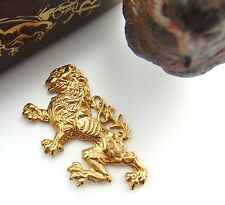 BRASS English Griffin Rampant Dragon LION Stamping - Brass Finding (FB-6055)  *