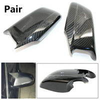 2X Carbon Fiber Door Side Wing Mirror Cover For BMW 5 Series F10/F11/F18 Pre-LCI