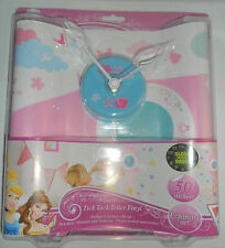 GIRLS DISNEY PRINCESS WALL VINYL GLOW IN THE DARK STICKER BEDROOM PLAYROOM CLOCK