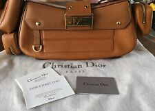 "Christian Dior Vintage Luggage Leather Shoulder Bag 12',14"", 21/2',6'"