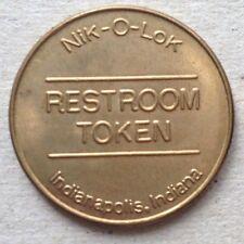Nik-O-Lok Restroom Token Indianapolis Indiana