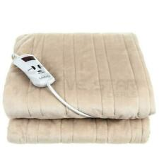 LIVIVO Micro Fleece Throw Electric Over Blanket - Brown