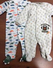Carter's Boys Fleece Footie Pajamas-Size 6 Months-2 Sets Total