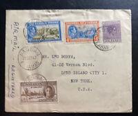 1947 Nassau Bahamas Airmail Registered Cover To New York USA