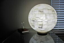 "Sphere Stone Table Lamp White Onyx Ball Globe Handcarved 50"" circumference"