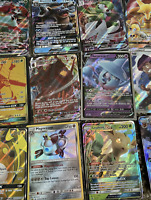 Pokemon Card Lot 100 OFFICIAL TCG Cards 2 Ultra Rares Included - GX EX V + HOLOS