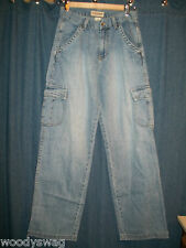 London Jean Cargo Jeans size 6 100% Cotton Pre Owned USA