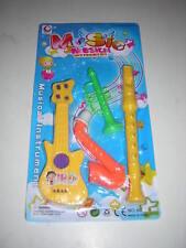Jouet Lot de 4 mini instruments Trompette Guitare Saxophone Flute dès 3 ans NEUF